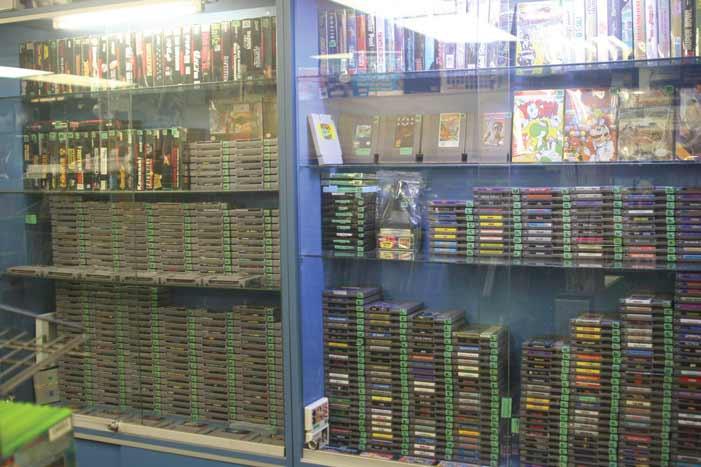 Retro video game cartridges